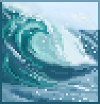 Background giant wave