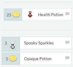Opaque potion