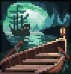 Background rowboat