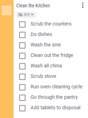 Here is a Checklist