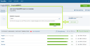 Transifex join language team