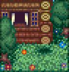 Background idyllic cabin