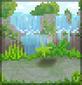Background island waterfalls