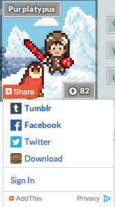 Share Button Lower Left