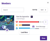 Member message icon