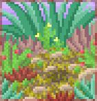 Background succulent garden