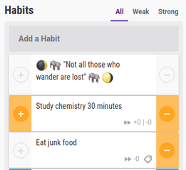 Habits as reminders