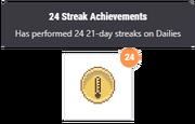 Streak achievement