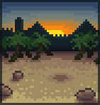 Background sunset oasis