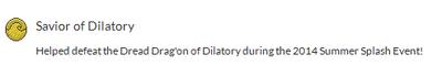 Badge dilatory