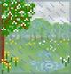 Background spring rain