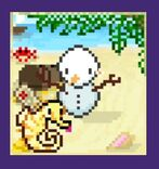 New Year Summer Snowman