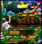 Background sunken ship
