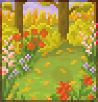 Background autumn flower garden