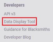 Data display tool