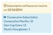 Subscription cancelled