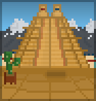 Background mountain pyramid