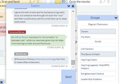 HabitRPG chat Chrome extension
