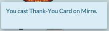 Cast card