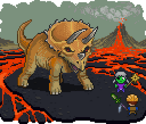Triceratops promotional art