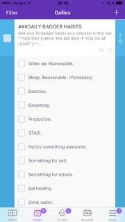 Checklist iOS