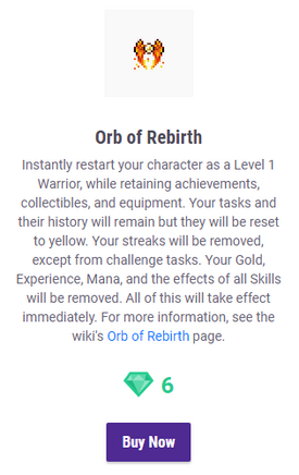 Orb of Rebirth Confirmation