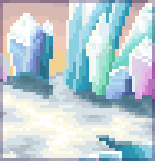 Background shimmering ice prism
