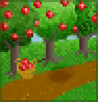 Background apple picking