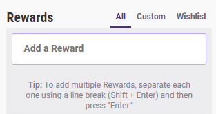Rewards Section