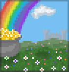 Background rainbow meadow