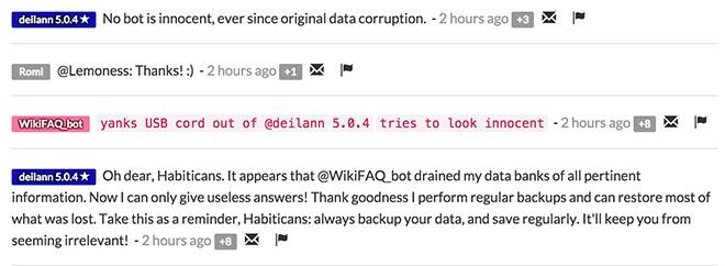 WikiFAQ bot humor-0