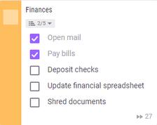 FinanceChecklist