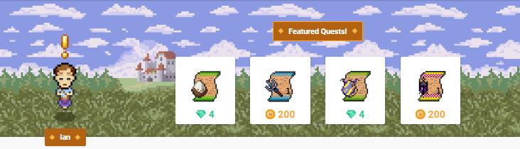 Quest shop banner npc