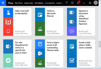 Microsoft Flow Screenshot