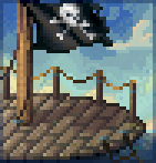 Background pirate flag