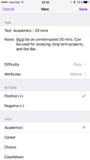 Habit Add iOS