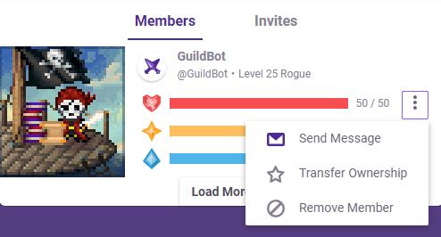 Guild leader select