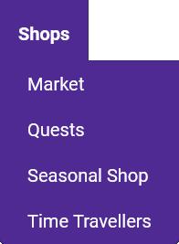 Toolbar Shops Tab