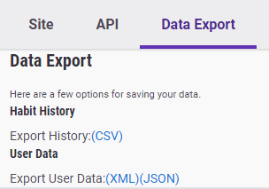 Data Export | Habitica Wiki | FANDOM powered by Wikia