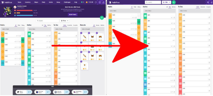 Simple view/hide the gamification | Habitica Wiki | FANDOM powered