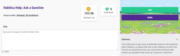 Guild page habitica help