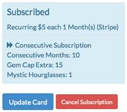 Subscription status