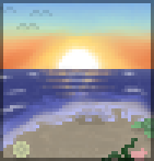 Background ocean sunrise