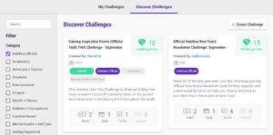 Challenge lists