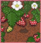 Background strawberry patch
