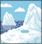 Background iceberg