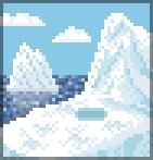 Background iceberg