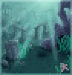 Background underwater ruins