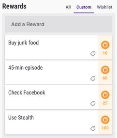 Rewards-example habitRPG