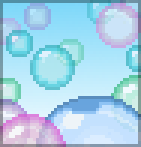 Background shimmery bubbles